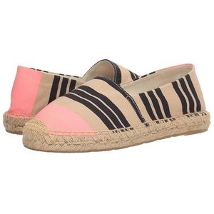 sam edelman // navy and pink striped espadrille